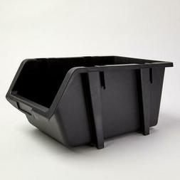 Storage Bins 4-Pack 9-1/4 in. Black Stacking And Nesting Org