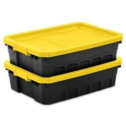 6 Pack Stacker Tote 10 Gallon Yellow Lily Under Bed Organize
