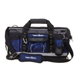 Black/Blue Finish Zippered Tote Tool Bag 19 in.Home Garage S