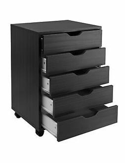 Halifax Cabinet for Closet / Office, 5 Drawers, Black