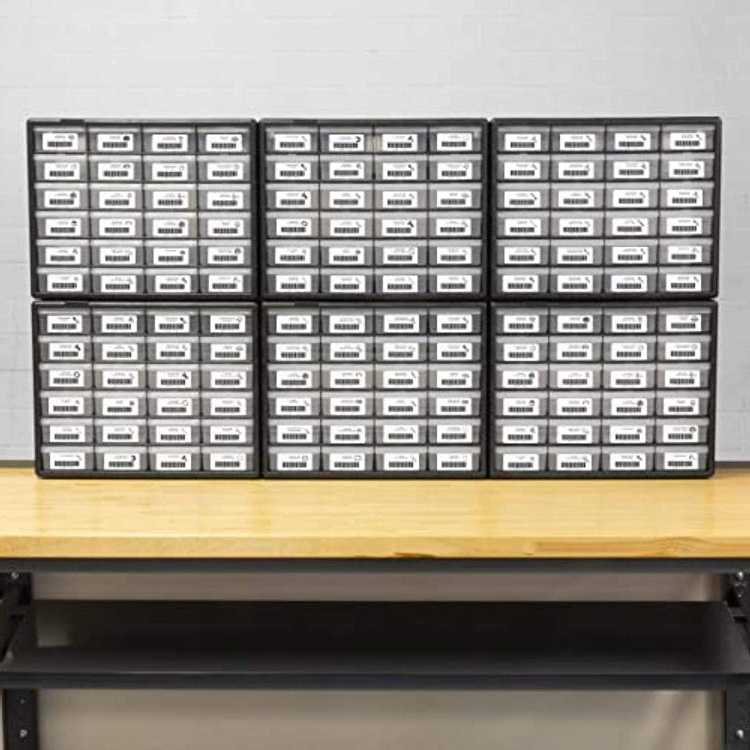 24-Drawers Small Container Organizer Garage Wall