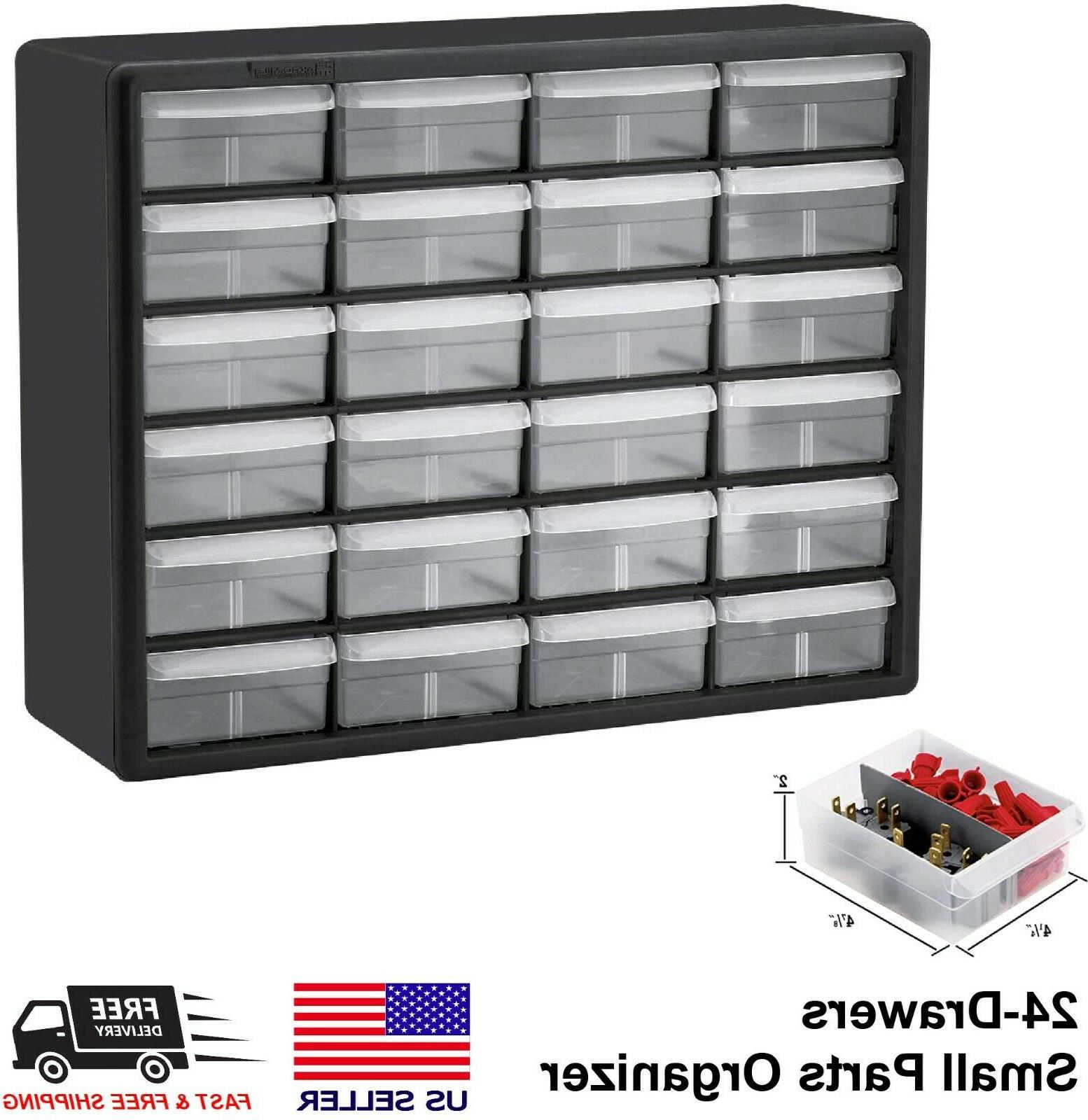 24 drawers small parts storage container organizer