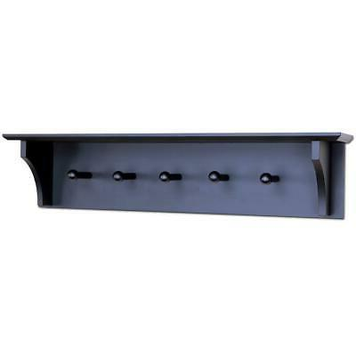 """24"""" Wall Coat Hat Rack with 5 Hook Home Organizer"""