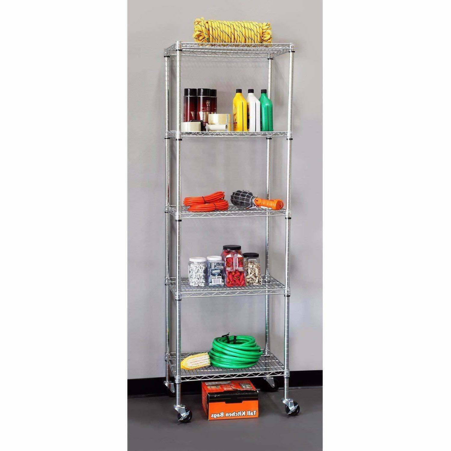 5 tier shelving wire unit garage commercial