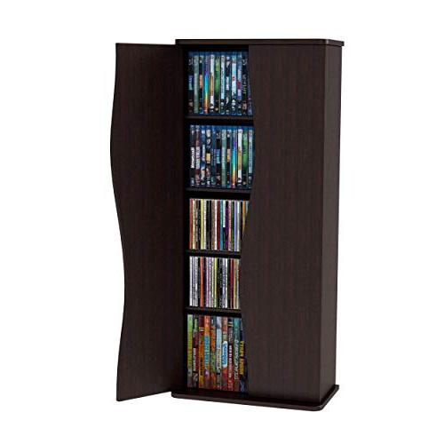 Atlantic Cabinet CDs, DVDs 108 Blu-Rays, 4 and 2 PN83035729 in Espresso
