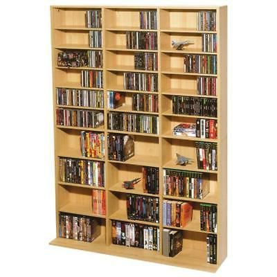 multimedia storage cabinet stand tower dvd cd