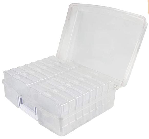 photo storage box for 1600 pictures clear
