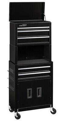 """Rolling Tool Chest 20"""" Cabinet Combo 5 Drawers Workshop Gara"""