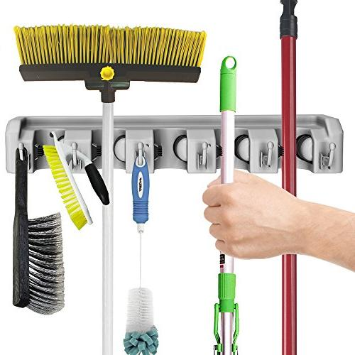 Shovel, Tool Holder with Mounted Organizer Closet, Home and Tools-Space Saving Rack