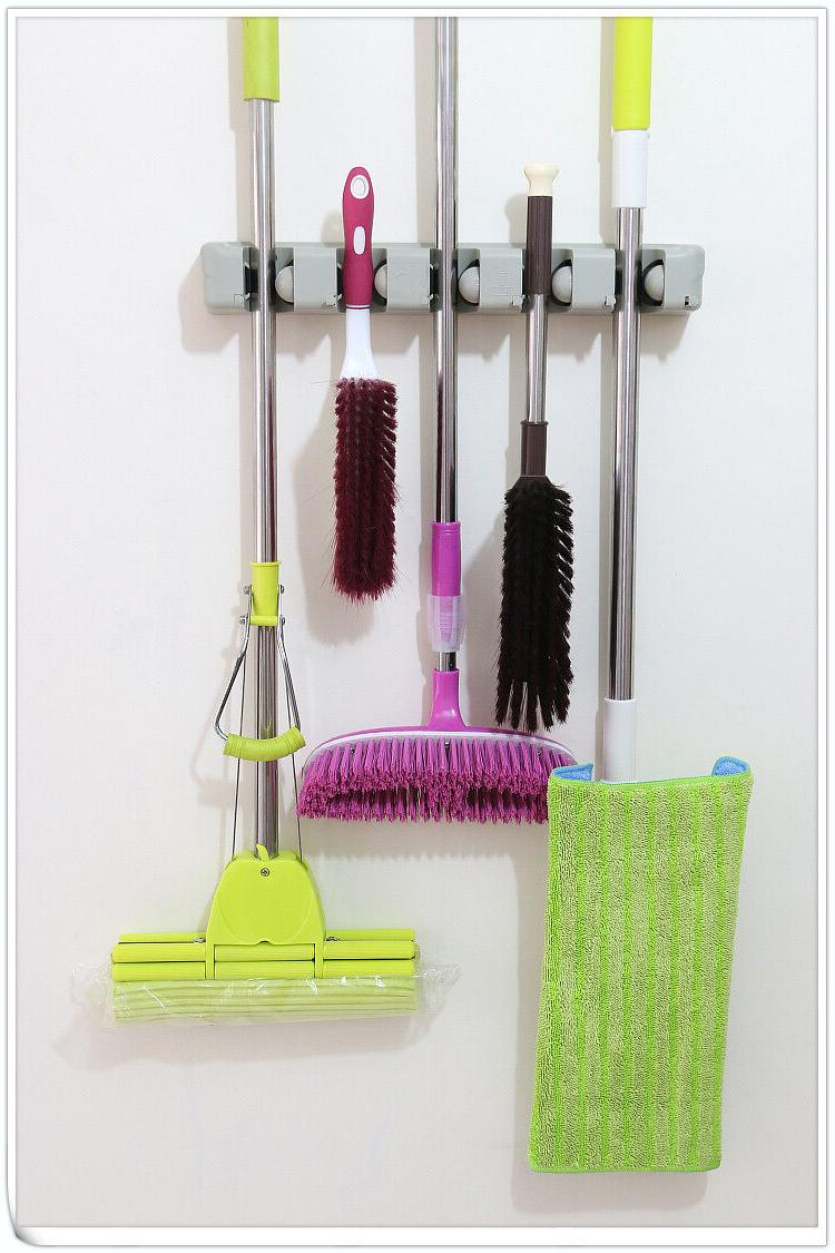 Wall Mount Magic Mop and Broom Holder Hanger Cleaning Tool O