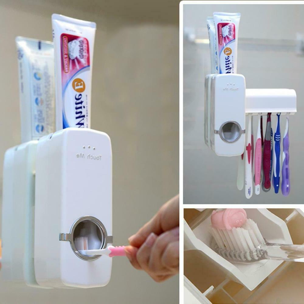 Wall Stand Toothpaste Toothbrush Organizer