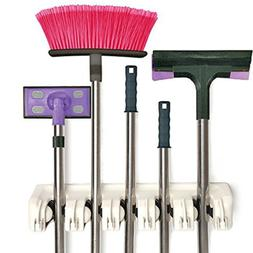 ONMIER Mop and Broom Holder, Multipurpose Wall Mounted Organ