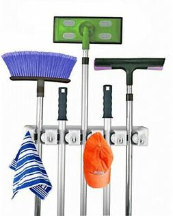 Mop And Broom Holder Wall Mount Garden Tool Storage and Orga