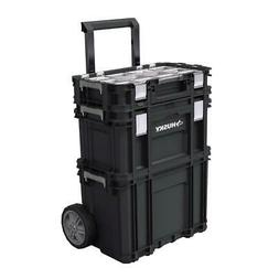 rolling tool box stackable portable storage organizer