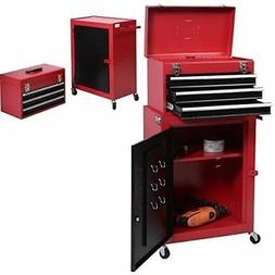 Rolling Toolbox Set 2pcs Mini Tool Chest And Storage Cabinet