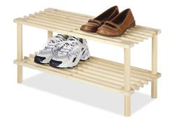 Small Shoe Rack Shelf For Shoes Double Deck Organizer Solid