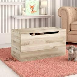 Toy Storage Box Trunk Solid Wood Chest Natural Finish Organi